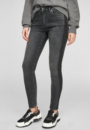 MIT PRINT - Jeans Skinny Fit - dark grey