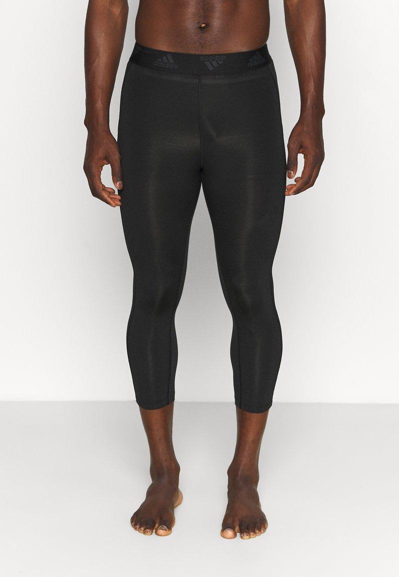 adidas Performance - 3 STRIPES PRIMEGREEN TECHFIT COMPRESSION CAPRI 3/4 LEGGINGS - Tights - black