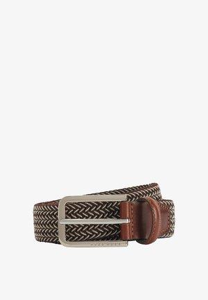 CLORIO - Braided belt - dark brown