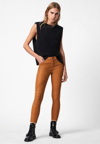 AllSaints - MILLER COATED JEAN - Jeans Skinny Fit - yellow - 1