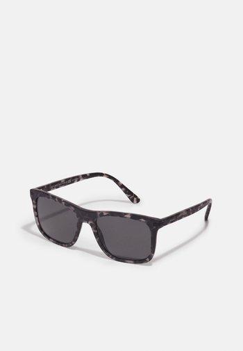 Sunglasses - matte dark grey tortoise