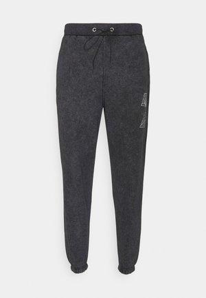 Teplákové kalhoty - acid wash black