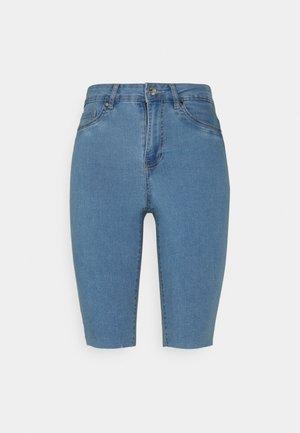 VMJOY JUDY - Denim shorts - light blue denim