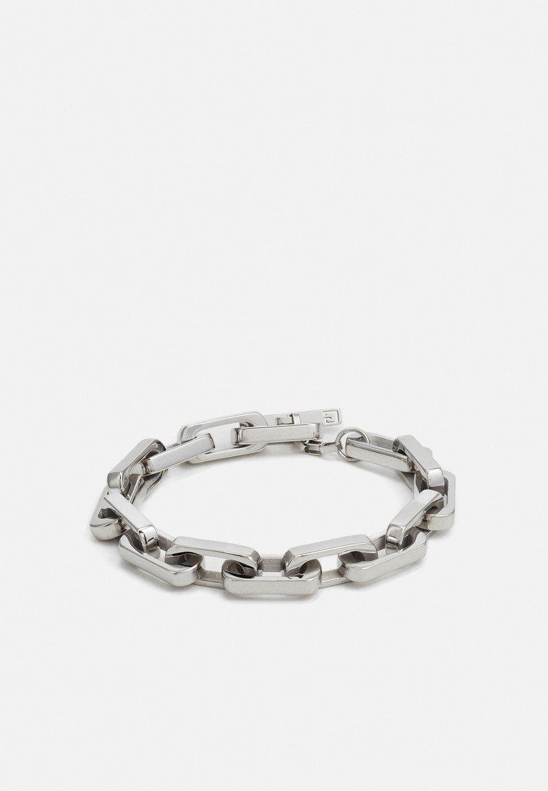 Guess - URBAN LEGEND T BAR LOGO BOLD CHAIN UNISEX - Bracelet - silver-coloured