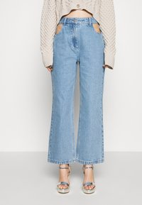 Milk it - BOYFRIEND CUTOUT POCKETS - Straight leg jeans - light blue - 0