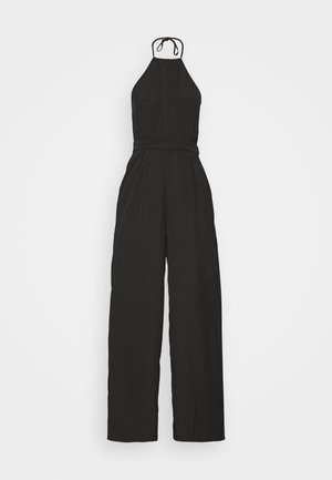 HALTERNECK WIDE LEG - Jumpsuit - black