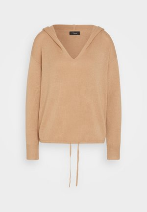 RELAXED HOODIE - Jumper - camel