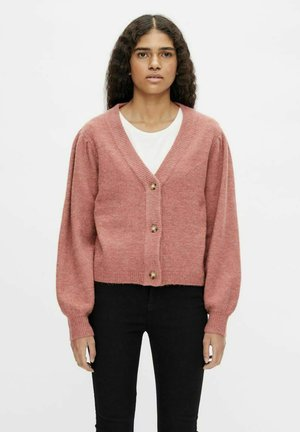 OBJEVE NONSIA SHORT CARDIGAN - Cardigan - withered rose