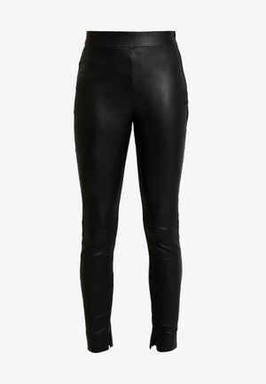 CARMEN PANT - Leather trousers - black