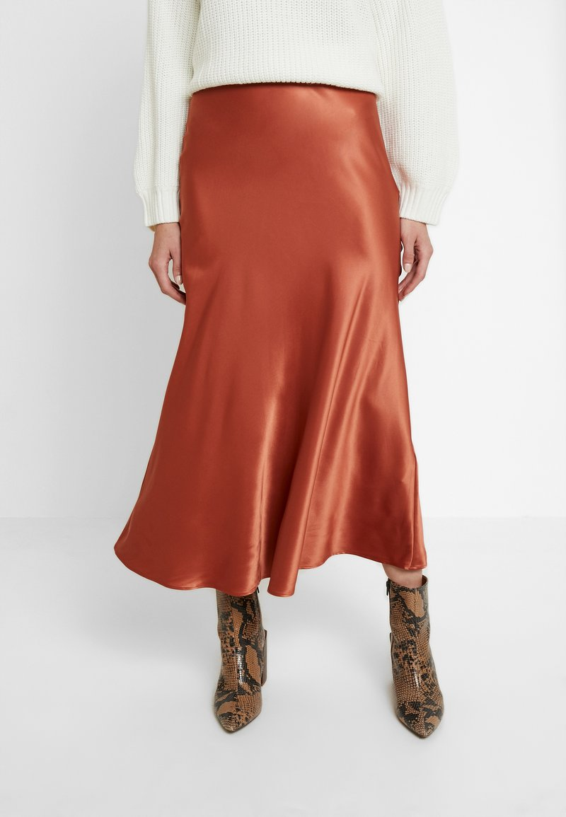 Monki - BAILEY SKIRT - Maxi sukně - rust