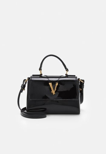 BAG  - Across body bag - black/gold-coloured