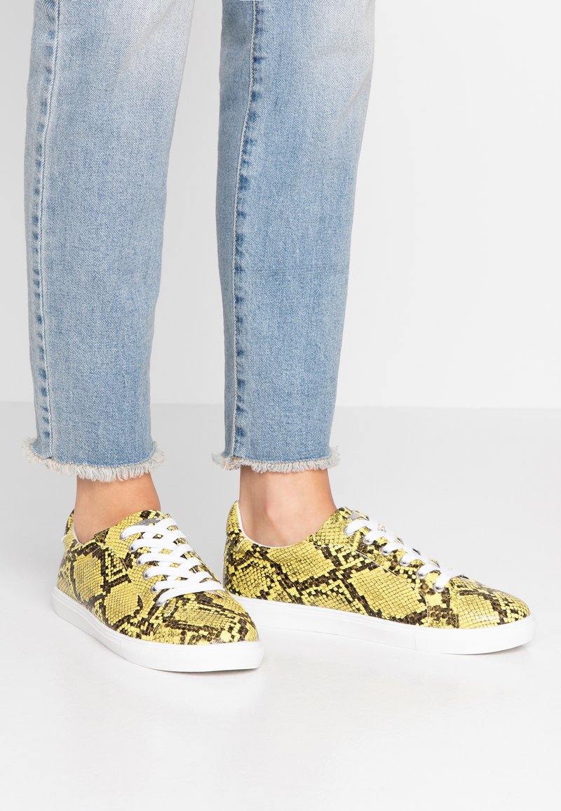 Topshop Wide Fit - WIDE FIT COLA - Trainers - yellow