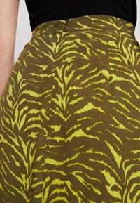 KIOMI - Maxi skirt - oliv/green - 4
