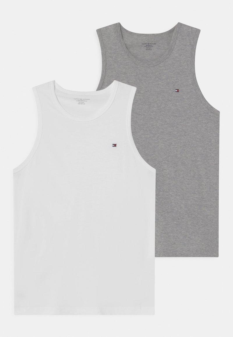 Tommy Hilfiger - 2 PACK - Undershirt - white/medium grey heather