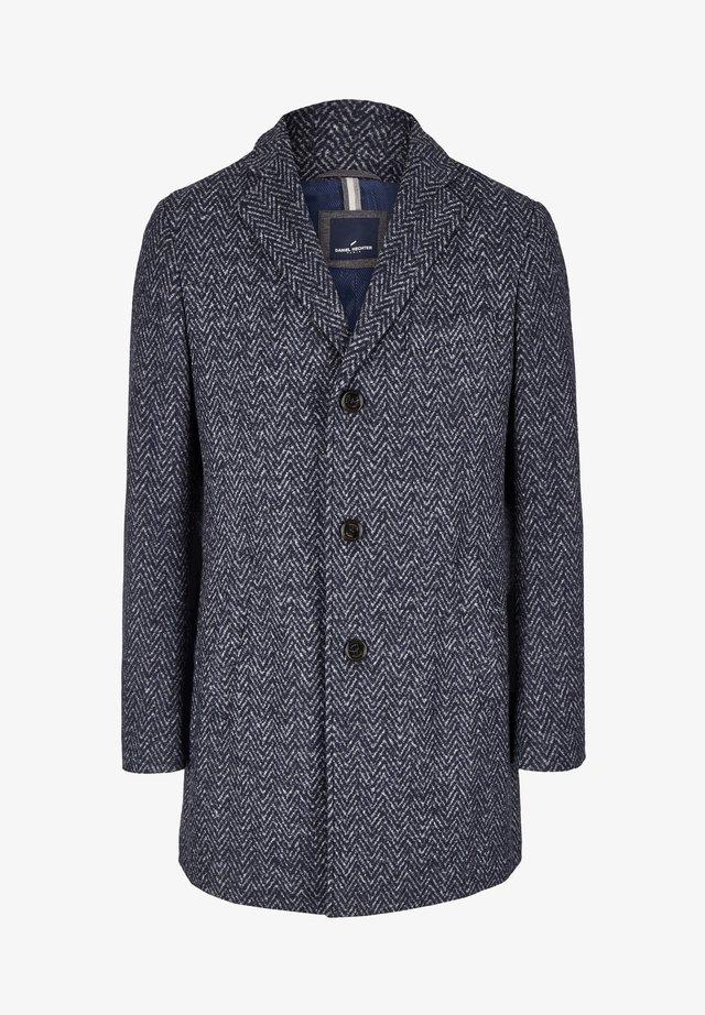 Short coat - blau-meliert