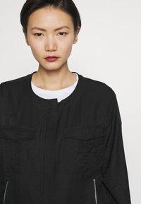 DKNY - FOUNDATION ROLL TAB ZIP FRONT - Summer jacket - black - 3