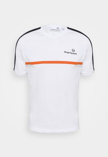 NOLWEN - Triko spotiskem - white/orange