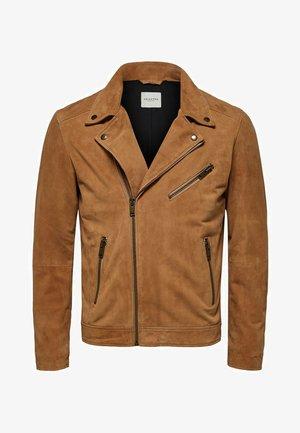Leather jacket - dijon