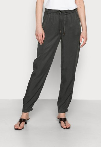 MABOU - Trousers - black oliv