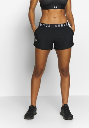 PLAY UP SHORTS - kurze Sporthose - black/white