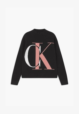 EXPLODED MONOGRAM - Jumper - black
