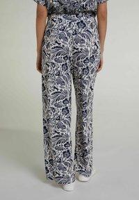 Oui - Trousers - white blue - 2