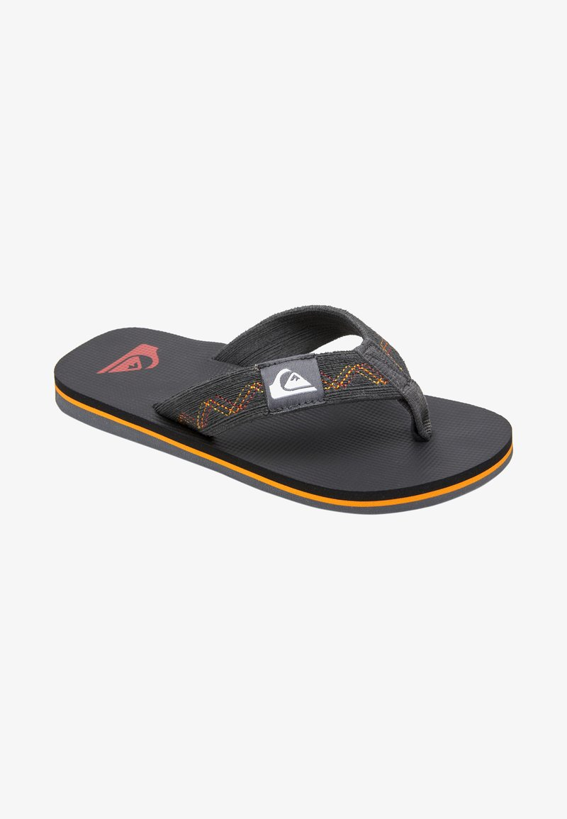Quiksilver - T-bar sandals - black/grey/yellow