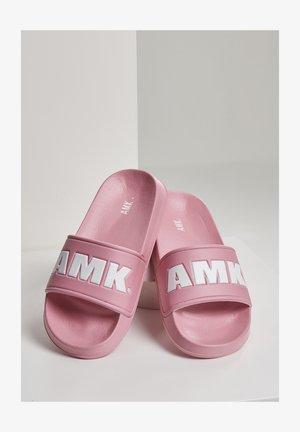 AMK SLIDES - Rantasandaalit - pink wht