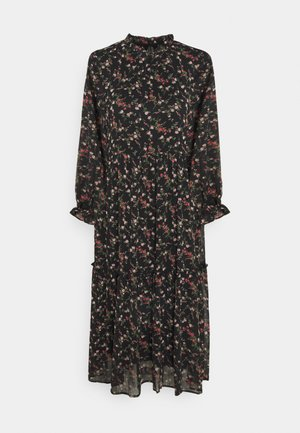 VMSYLVIA CALF DRESS - Robe d'été - black/rose