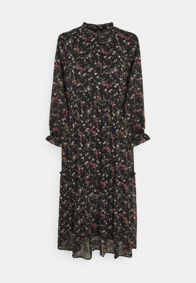 VMSYLVIA CALF DRESS - Day dress - black/rose
