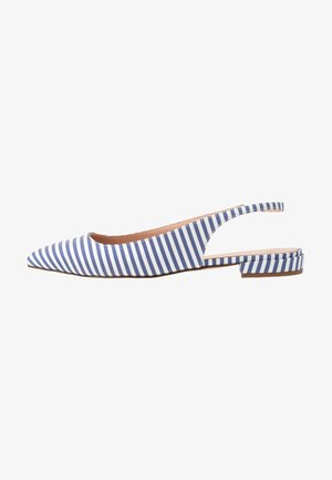 POINTY TOE  FLAT STRIPED - Ballerine - blue/white