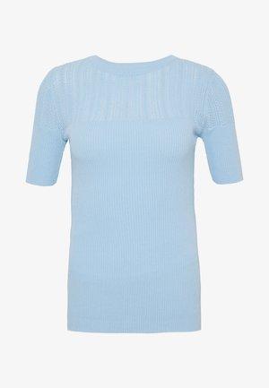 SHORT SLEEVE JUMPER - T-shirts med print - pale blue