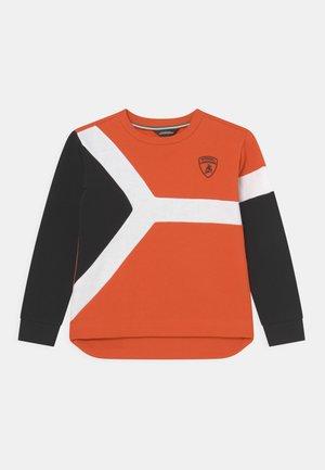 CREW NECK WITH COLOUR INSERT - Sweatshirt - orange