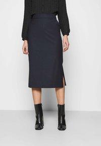 IVY & OAK - ANICE - Pencil skirt - navy blue - 0