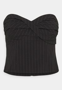 Who What Wear - TWISTED STRAPLESS - Top - black - 0