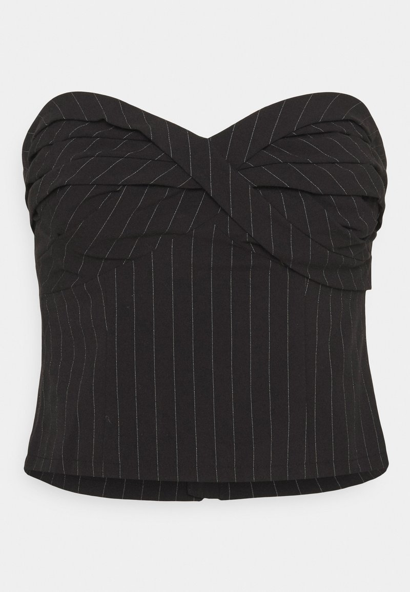 Who What Wear - TWISTED STRAPLESS - Top - black