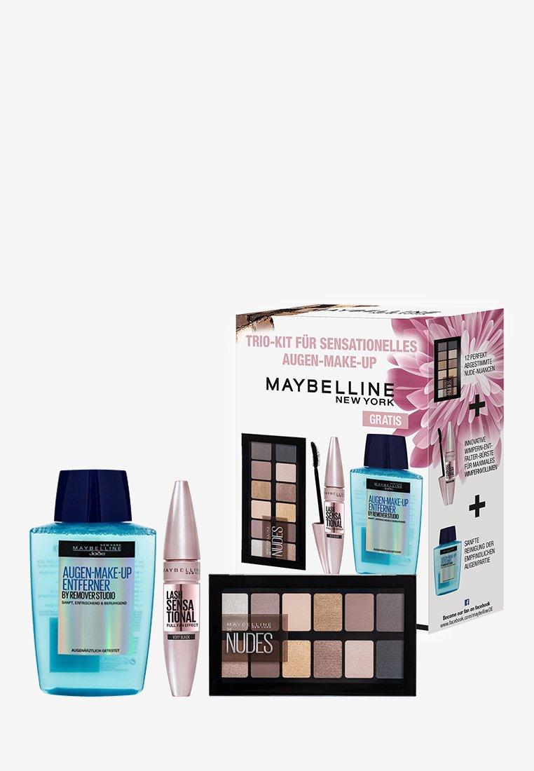 Maybelline New York - BESTSELLER GIFT SET - Makeup set - very black/the nudes/transparent