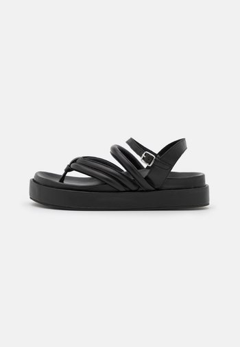 PHOEBE - T-bar sandals - black