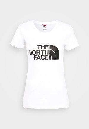 WOMENS EASY TEE - T-Shirt print - white/black