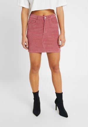 VELVETEEN  SKIRT - Mini skirt - pink