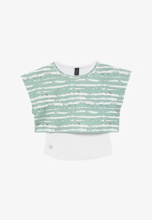 GIRLS PRINTED TEE - Print T-shirt - sage green