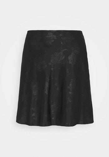 SIMPLE SKIRT - Mini skirt - black