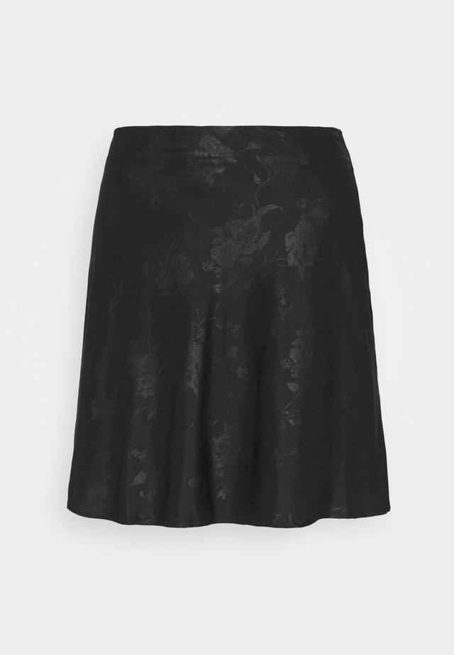 SIMPLE SKIRT - Spódnica mini - black