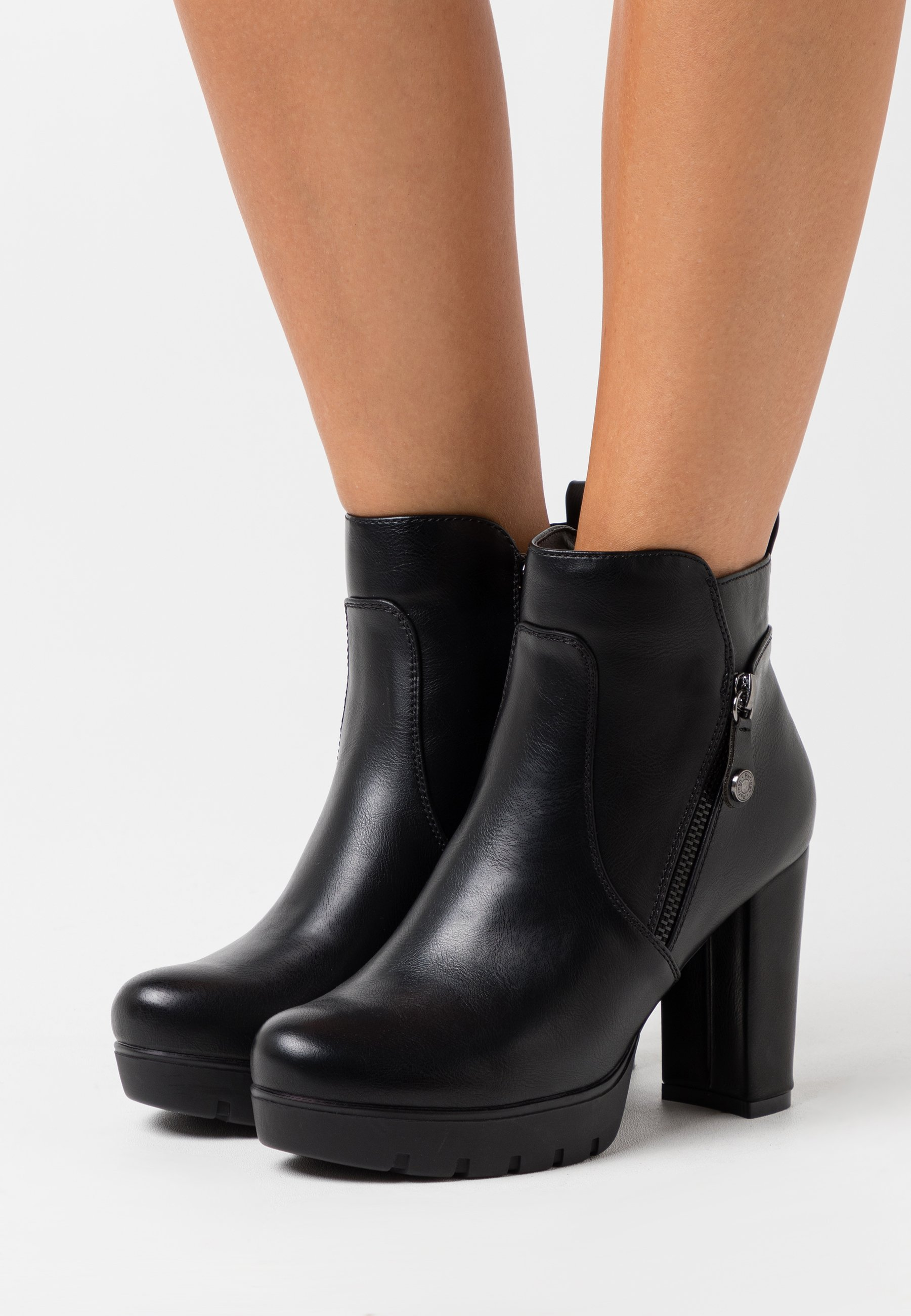 100% Guaranteed Inexpensive Women's Shoes Refresh High heeled ankle boots black lmTvUPwgn BsiOAVpcc