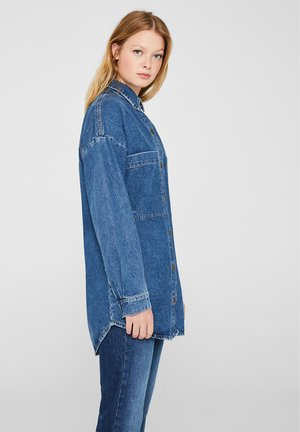 Button-down blouse - blue medium washed