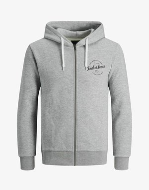 Felpa aperta - light grey melange