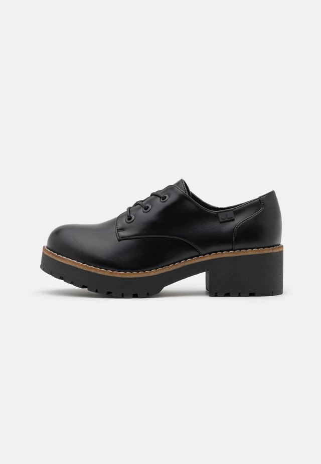 CHARIS - Veterschoenen - black