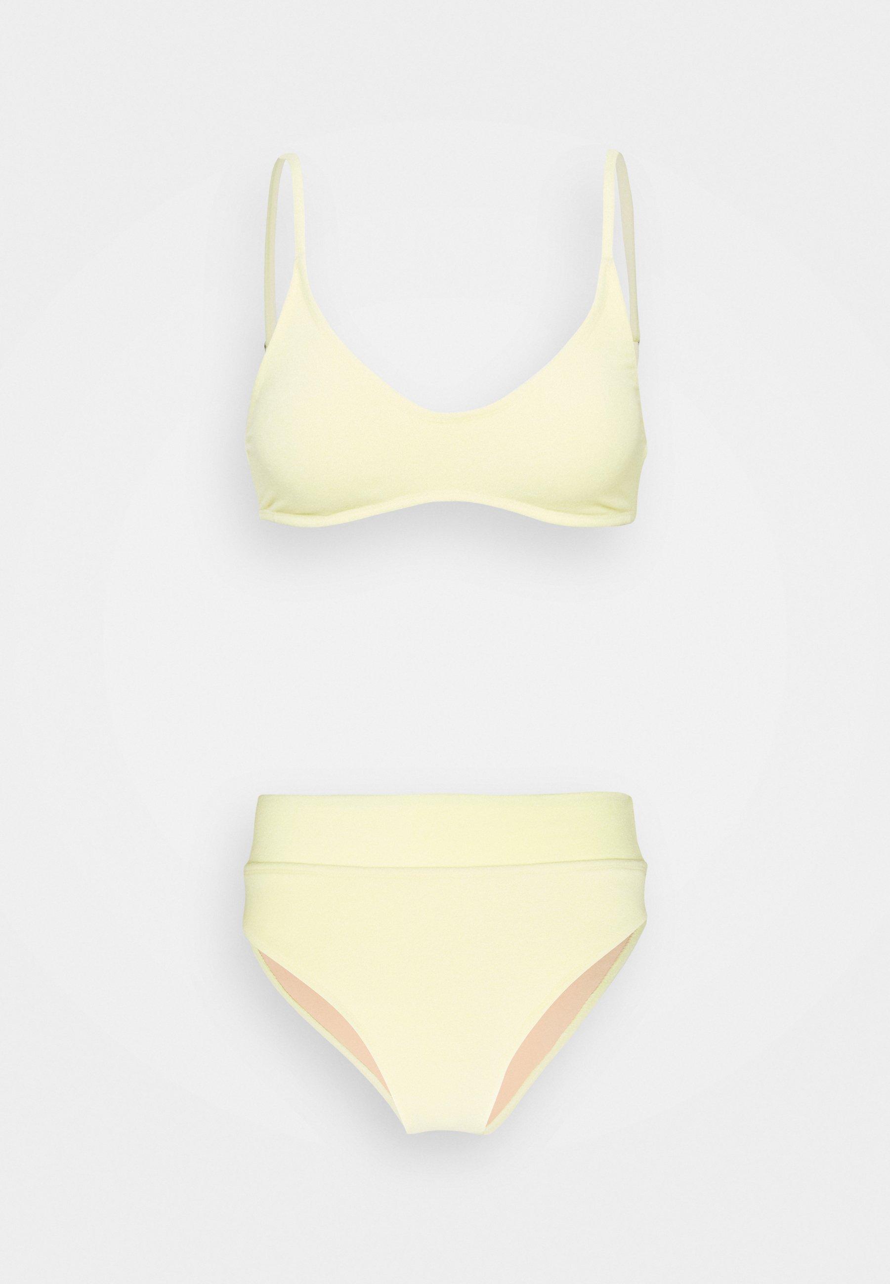 Women CROP HIGHWAISTED CHEEKY SET - Bikini