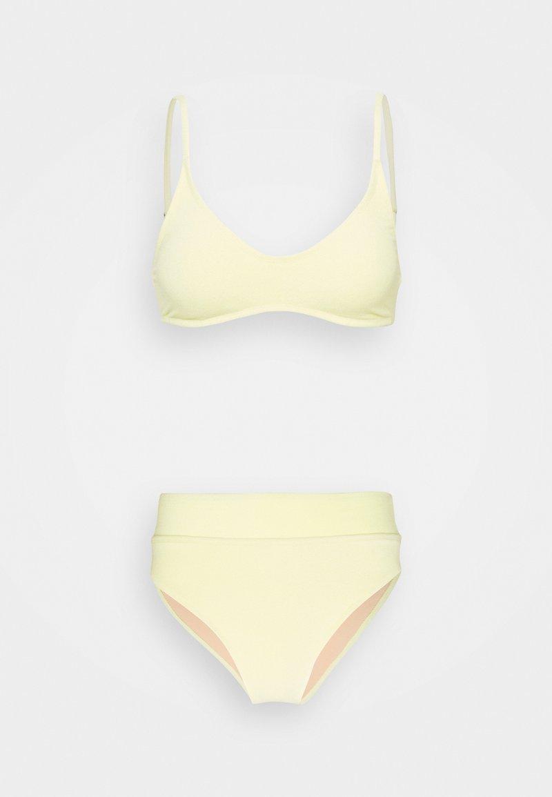 Cotton On Body - CROP HIGHWAISTED CHEEKY SET - Bikini - lemon terry