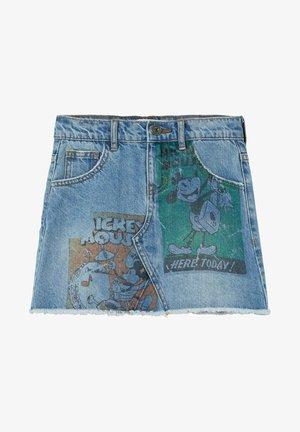 MICKEY MOUSE - Denimová sukně - blue